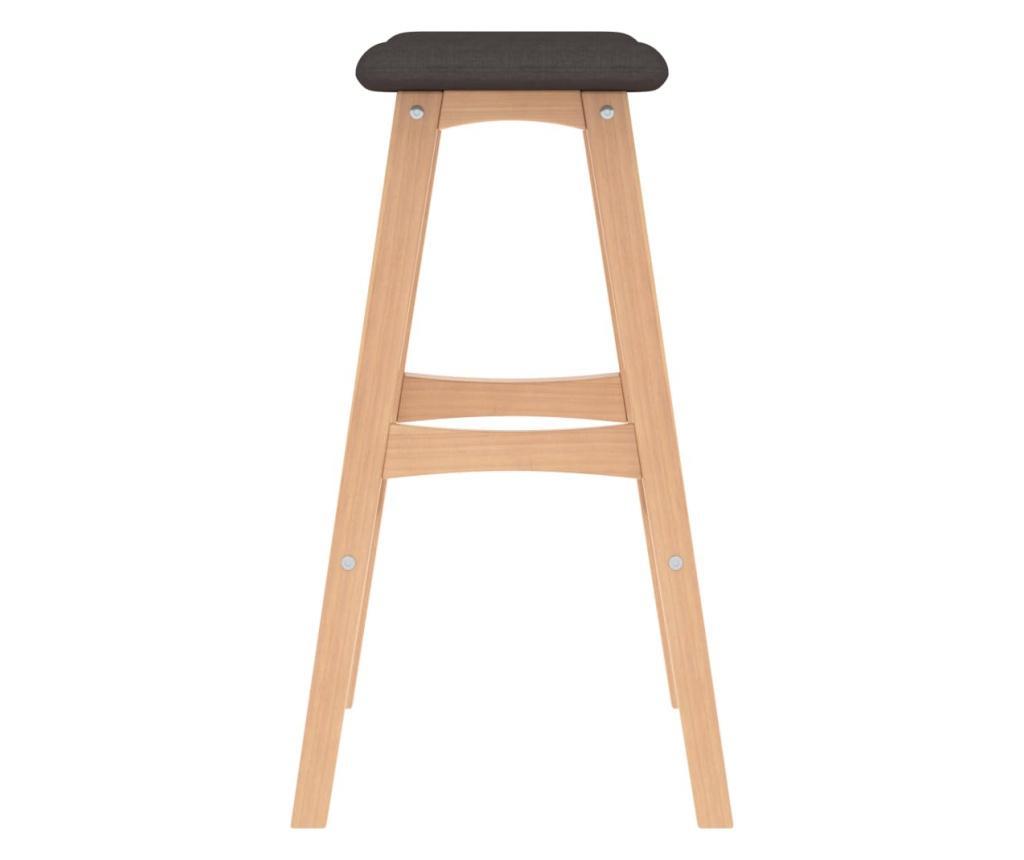 Barové stoličky 2 ks hnědé textil