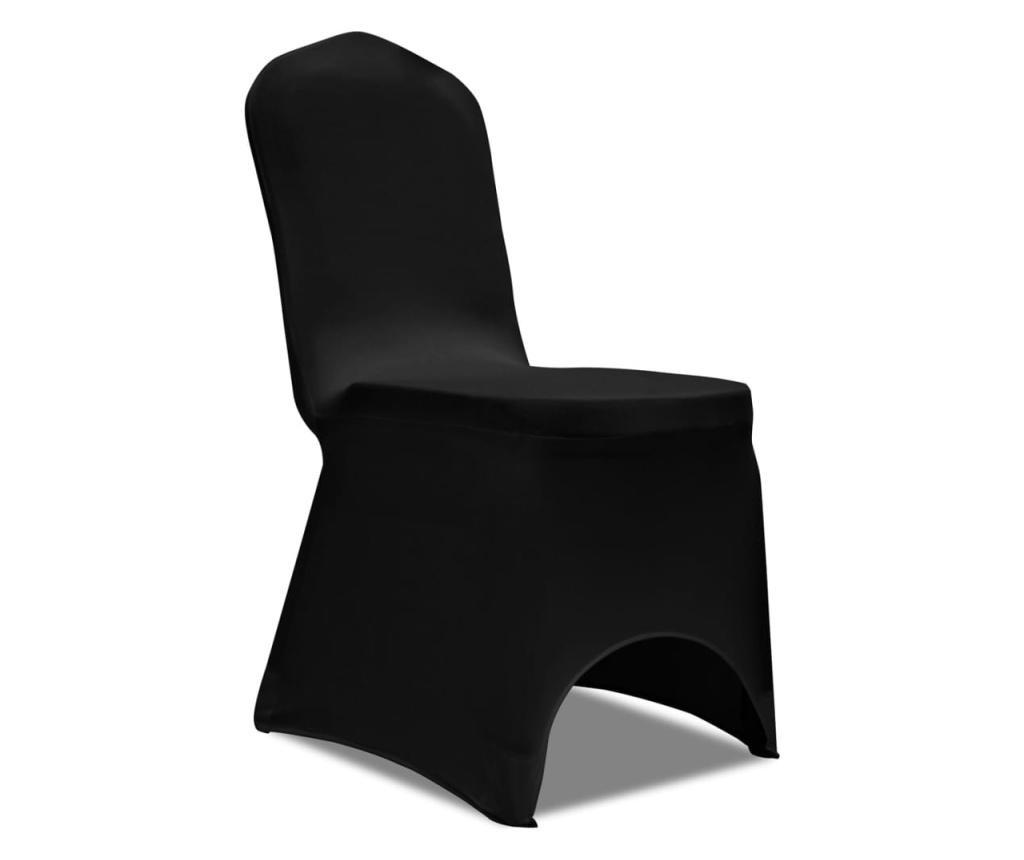 Elastyczne pokrowce na krzesła, czarne, 18 szt.