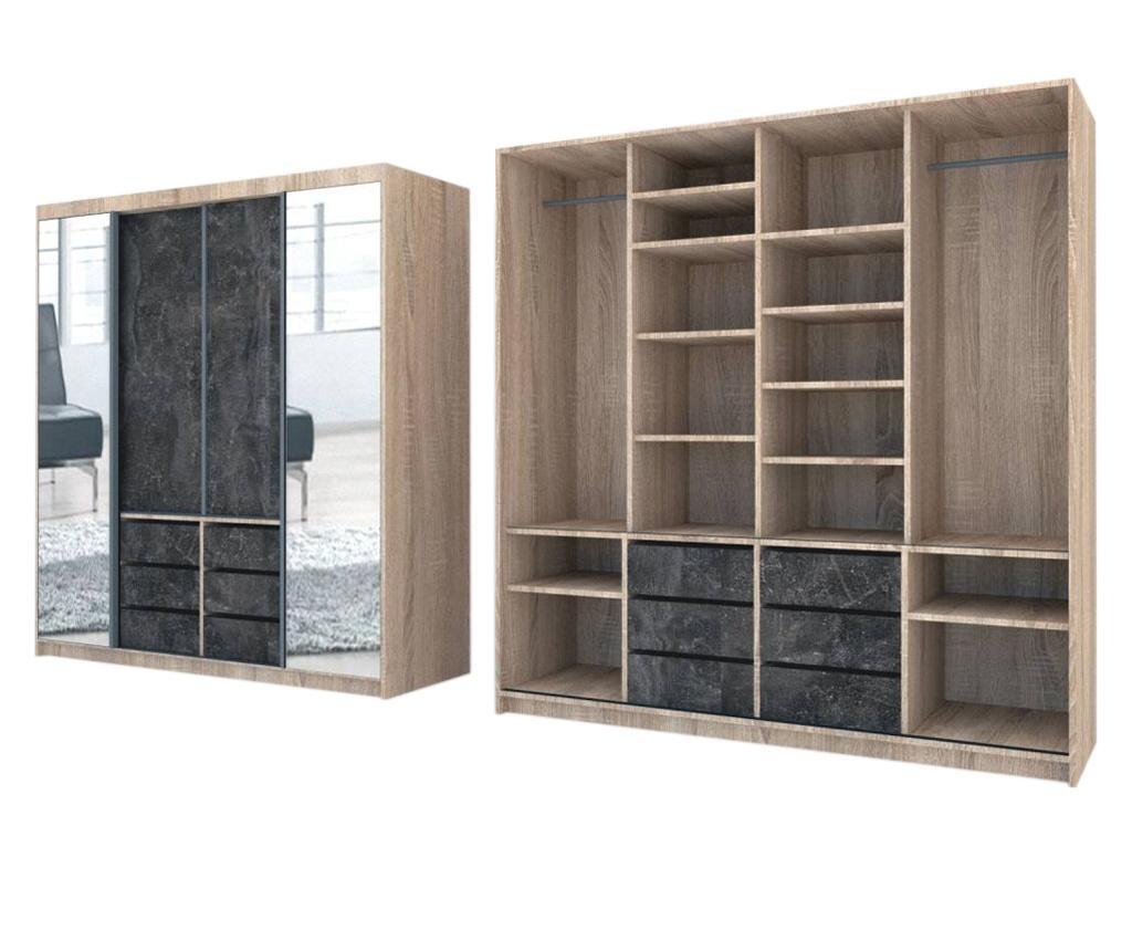 Dressing Genarom Day, Stejar Sonoma / Decor 4299, 200 x 207 x 65 cm