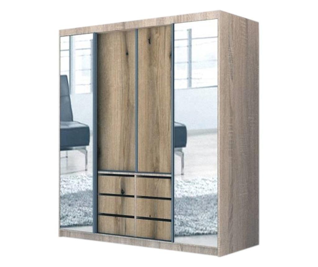 Dressing Genarom Day, Stejar Sonoma / Decor K365, 200 x 207 x 65 cm