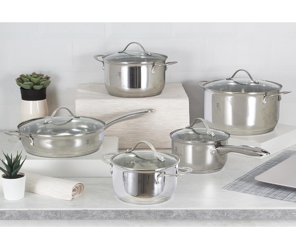 Комплект съдове за готвене от 10 части Silver Jewelry