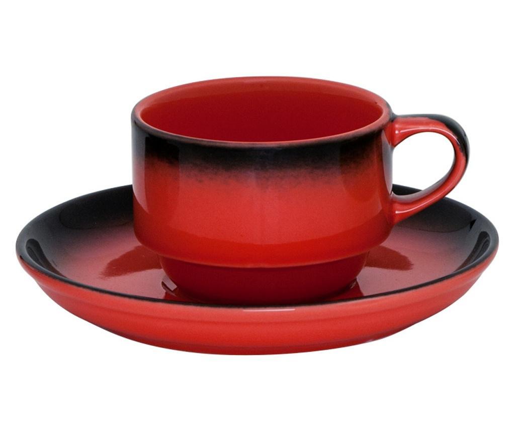 GURAL MARMARIS-BLACK/RED Ceasca cu farfurioara 230ml (NBNEO02CT631KMZS)