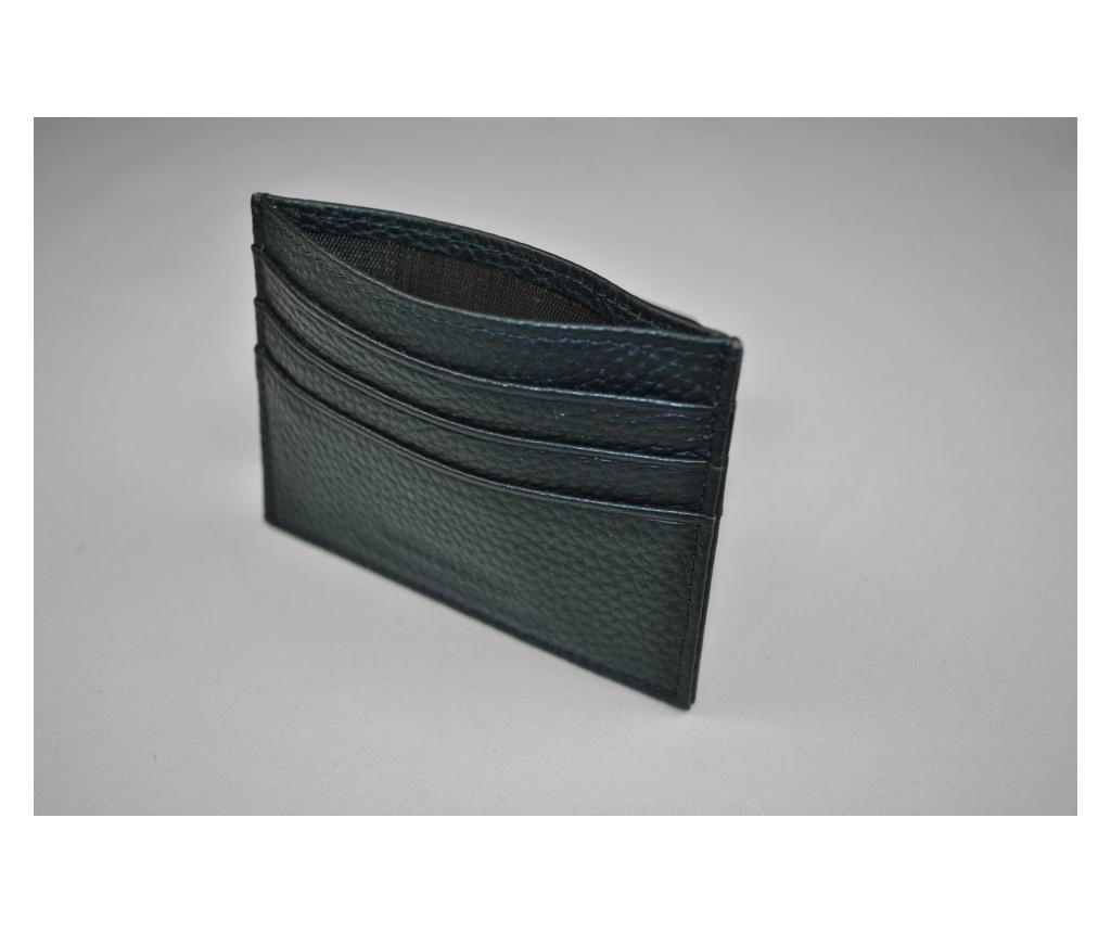 Portcard bluemarin piele naturala slim 6 compartimente