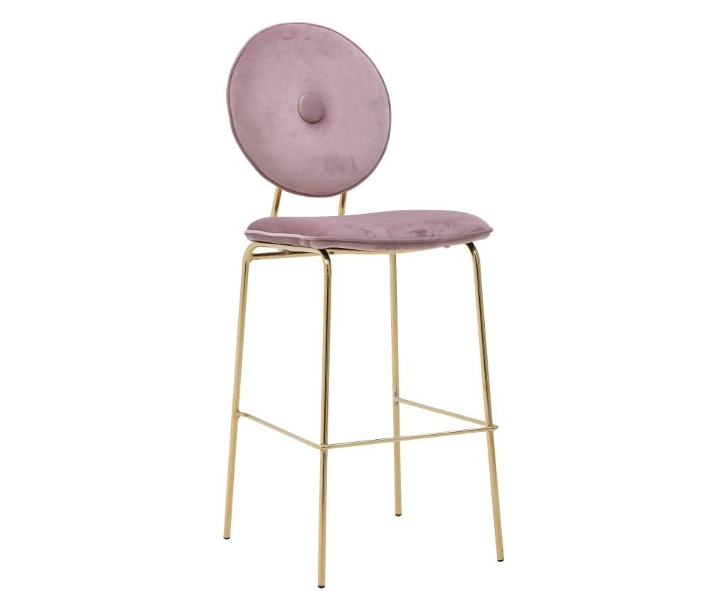 Stolica Velvet Gold Pink