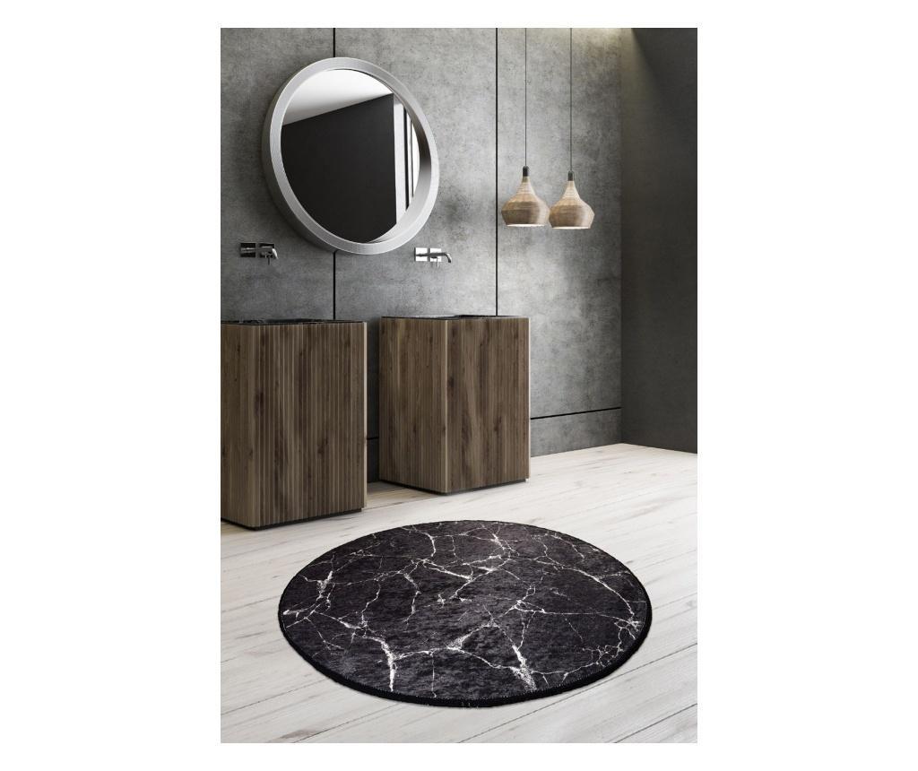 Dywanik łazienkowy Marble Black o średnicy 100 cm