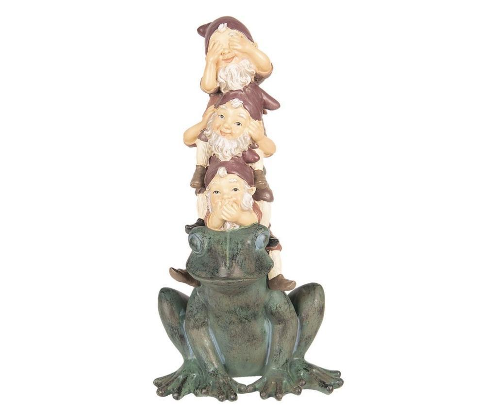 Figurine din polirasina elfi si broasca 18x16x35 cm