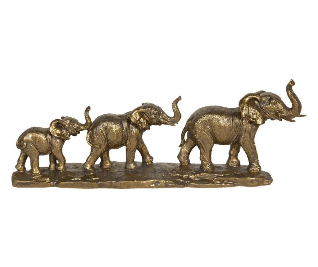 Figurine din polirasina auriu antic elefanti 45x9x17 cm