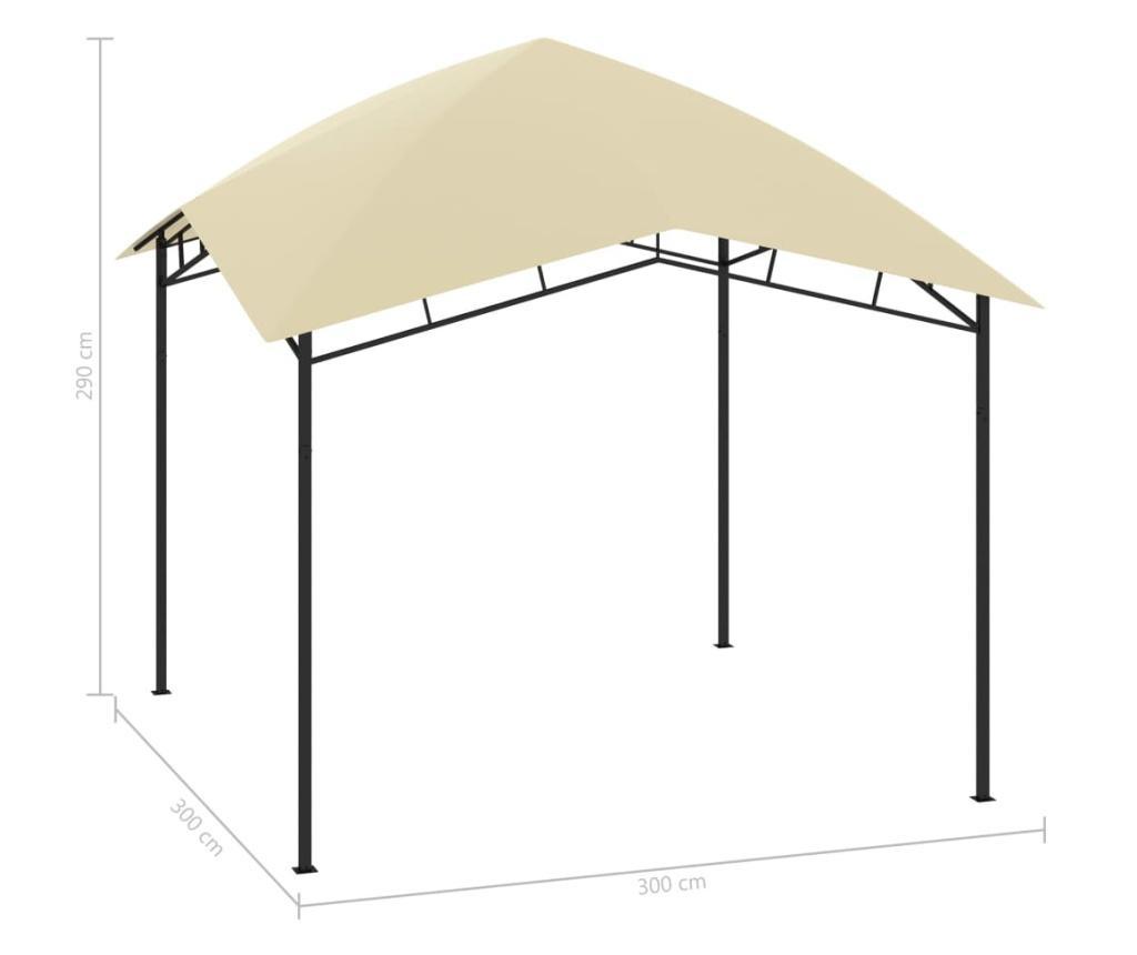 Altana ogrodowa, 3x3x2,9 m, kremowa, 180 g/m²