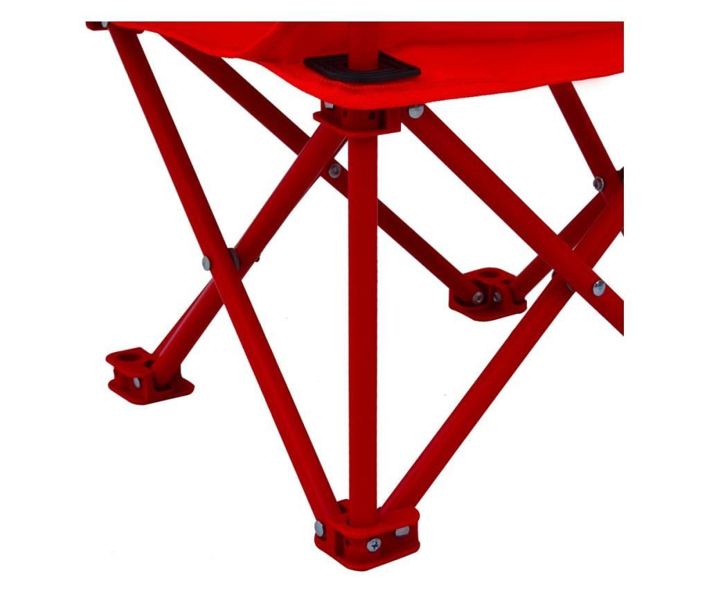 Krzesełka ogrodowe dla dzieci, 2 szt., czerwone, tkanina