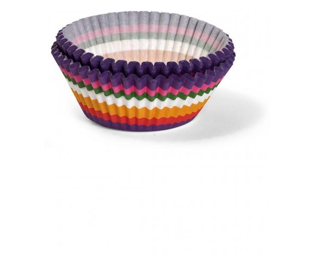 Set 50 forme briose Fissman, hartie, 5x5x3.5 cm, multicolor