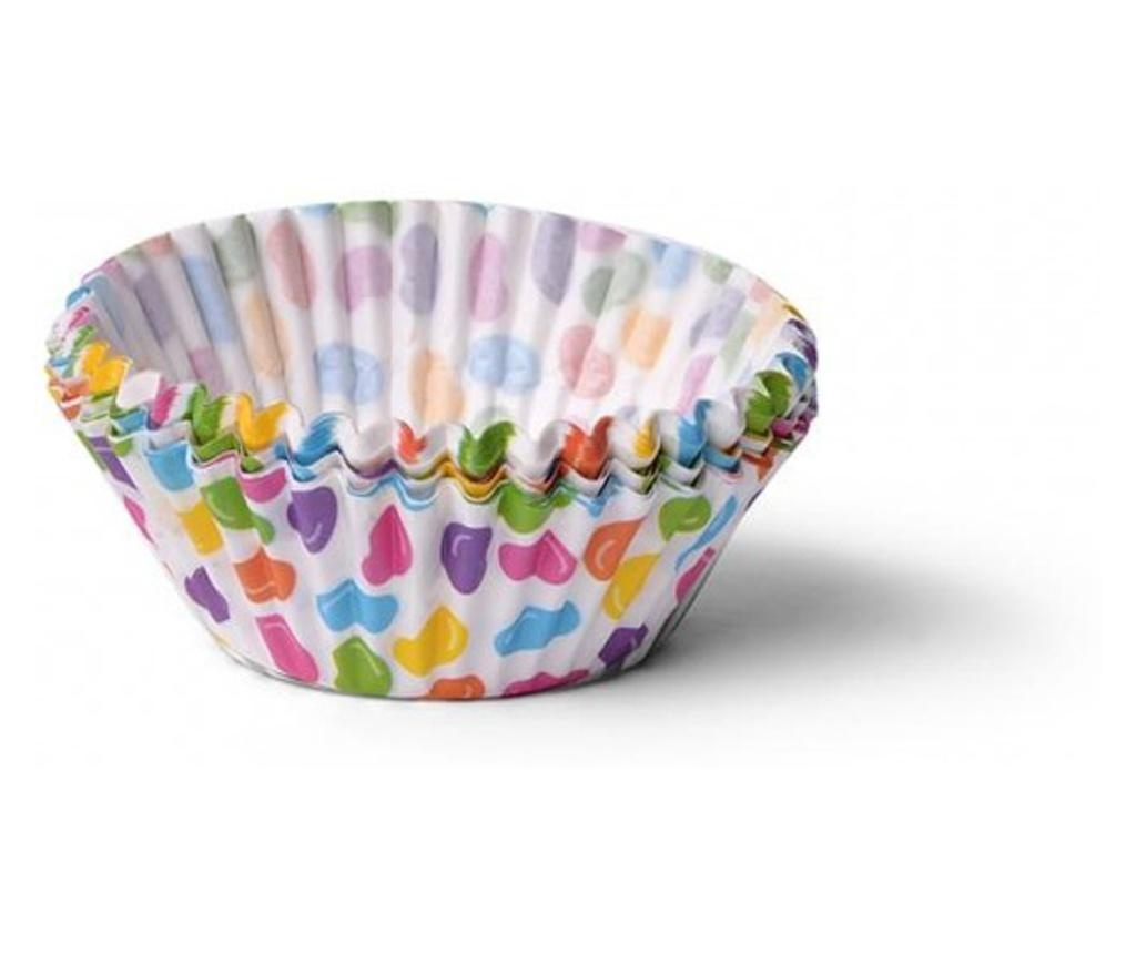 Set 50 forme briose Fissman, hartie, 5x5x3.3 cm, multicolor