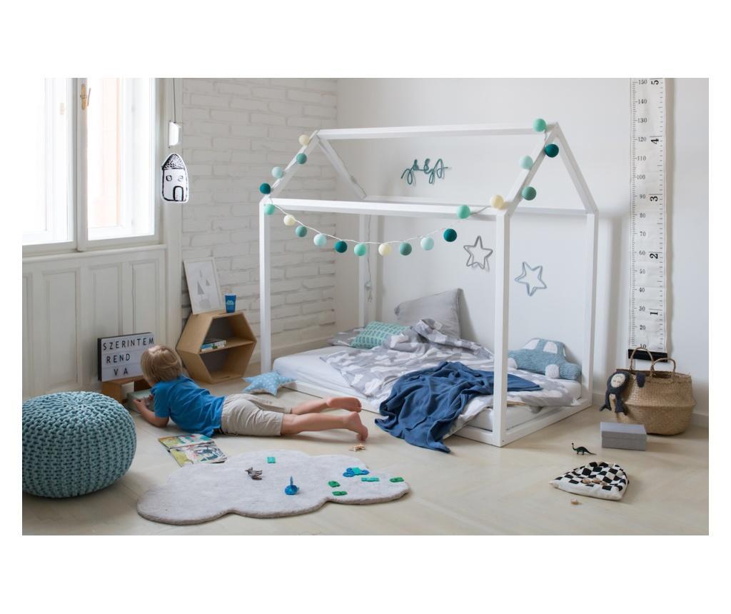 Házikó ágy festett fenyőből (többféle méretben)