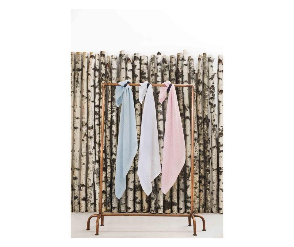 Organikus kötött takaró (vékony), hófehér (Vinter&Bloom)