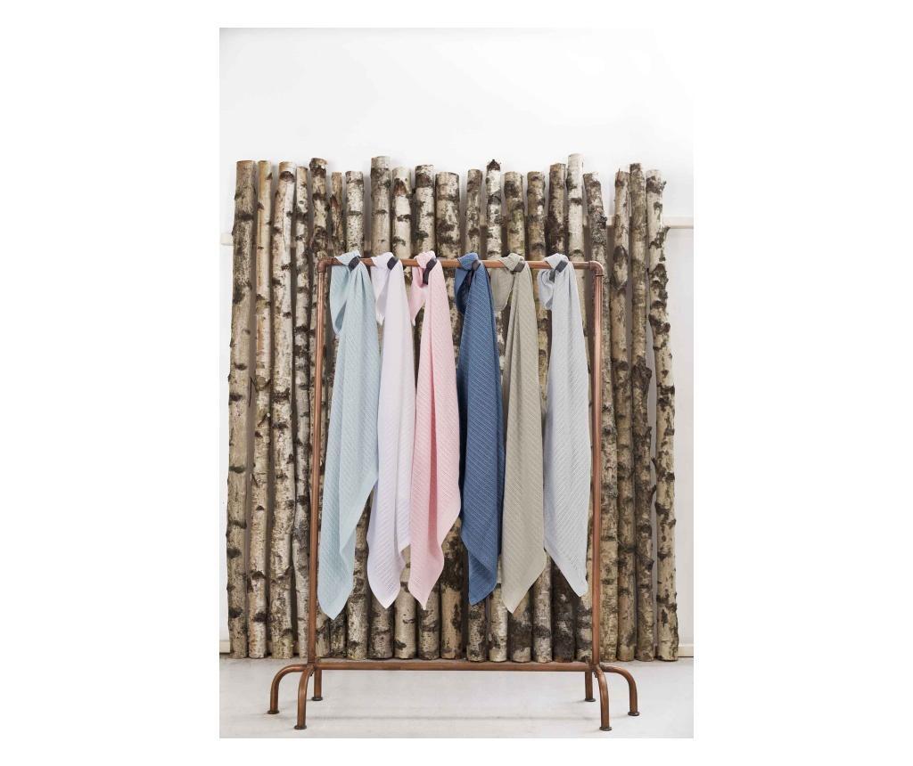 Organikus kötött takaró (vékony), pasztell kék (Vinter&Bloom)