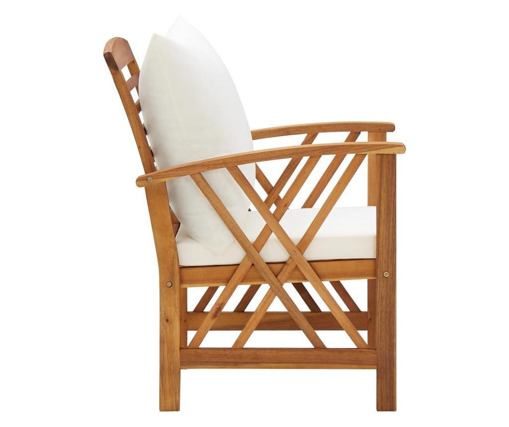 Krzesła ogrodowe z poduszkami, 2 szt., lite drewno akacjowe