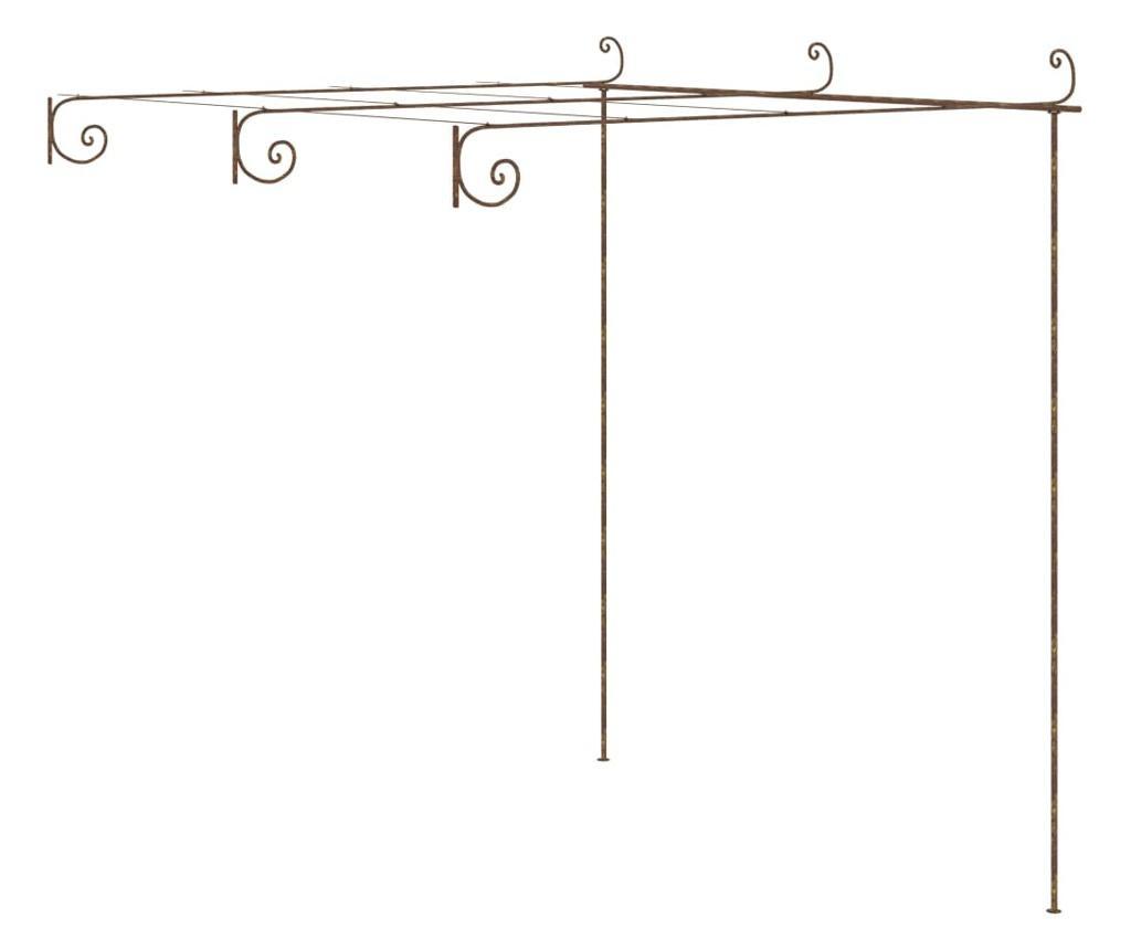 Pergola ogrodowa, antyczny brąz, 3x3x2,5 m, żelazo