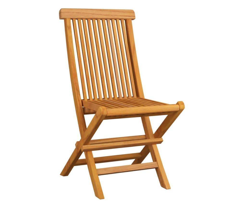 Krzesła ogrodowe, zielone poduszki, 4 szt., lite drewno tekowe