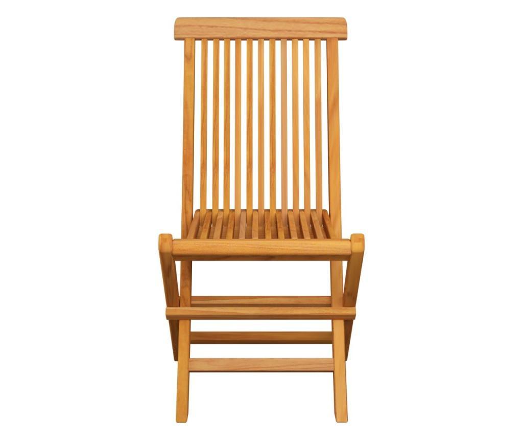 Krzesła ogrodowe, antracytowe poduszki, 6 szt., drewno tekowe