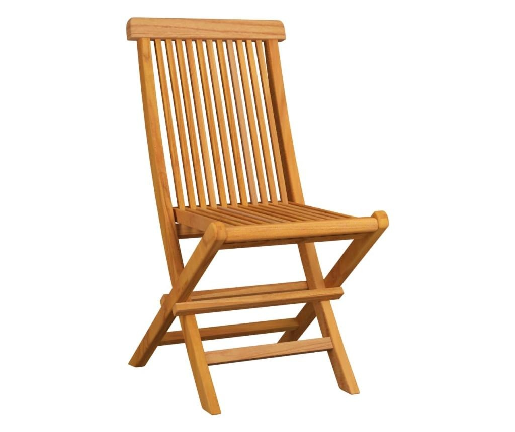 Krzesła ogrodowe, szare poduszki, 6 szt., lite drewno tekowe