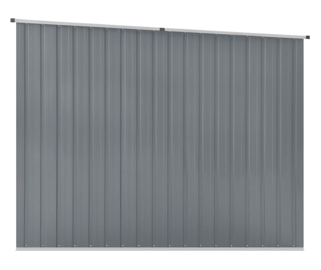 Szopa ogrodowa, szara, 195x198x159 cm, stal galwanizowana