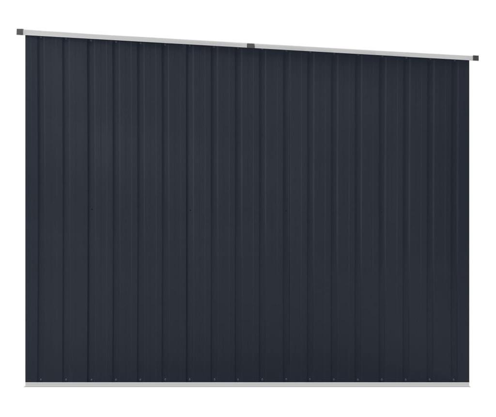 Szopa ogrodowa, antracytowa, 195x198x159 cm, stal galwanizowana