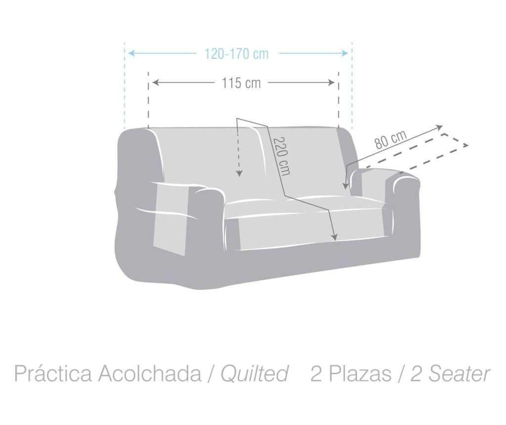 Dwustronny pokrowiec na kanapę Practical Blue&Grey 115x80x220 cm
