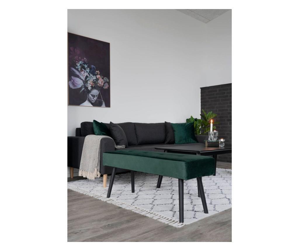 Παγκάκι Skiby Velvet Dark Green