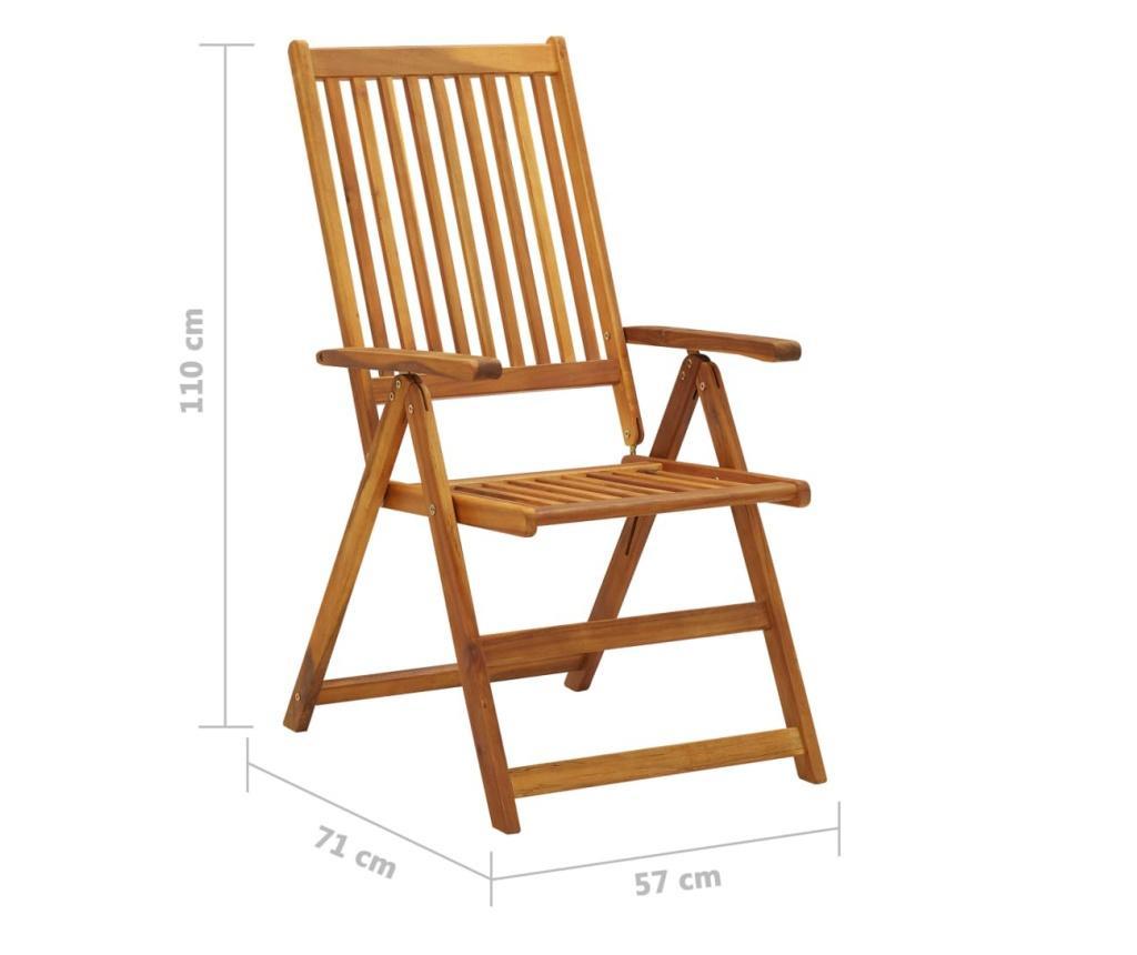 Rozkładane krzesła ogrodowe, 2 szt., lite drewno akacjowe