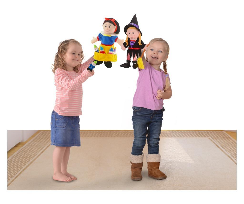 Set papusa si marionete Alba ca Zapada si cei 7 pitici / Snow White and the Seven Dwarfs - Fiesta Crafts