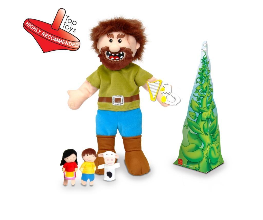 Set Papusa si marionete Jack si vrejul de fasole / Jack and the Beanstalk Hand - Fiesta Crafts