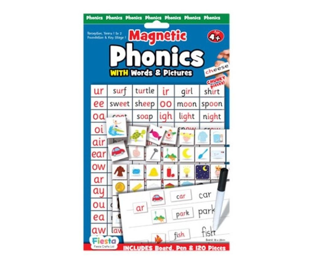 Joc educativ magnetic Fonetica cu imagini si cuvinte / Phonics