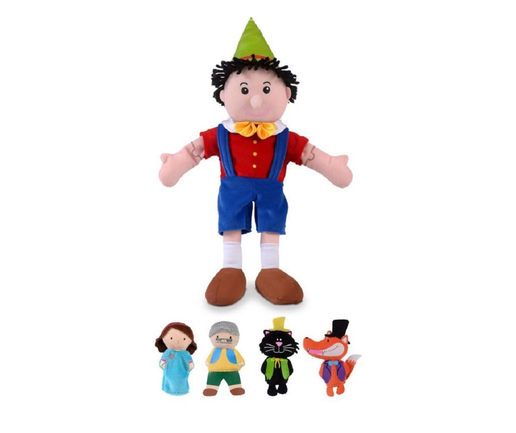 Set papusa si marionete - Pinochio / Pinocchio hand and finger puppet set
