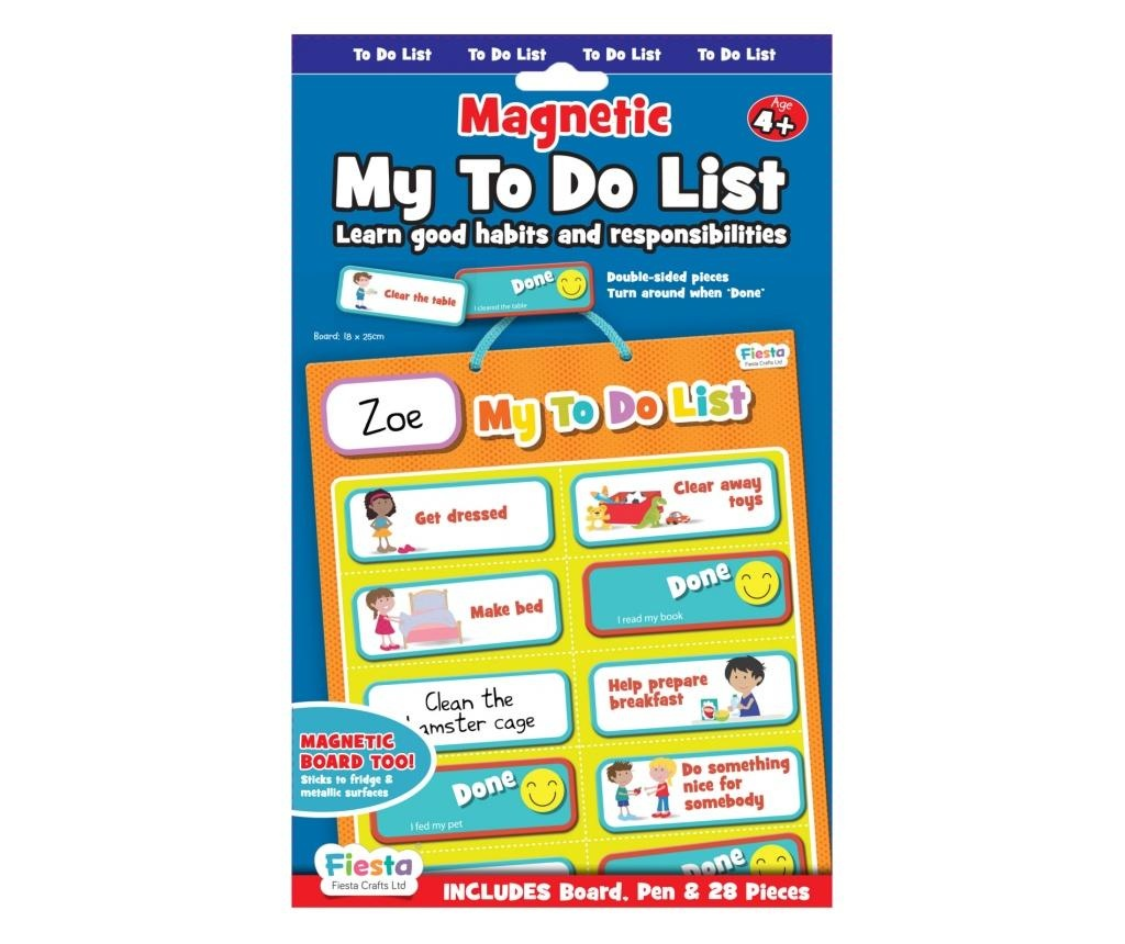 Joc educativ Organizator de activitati / My to do list - Fiesta Crafts