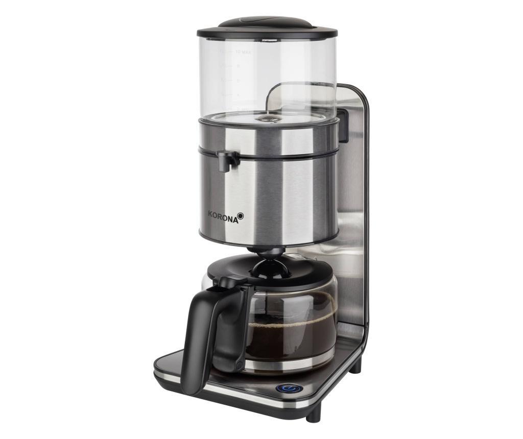 Korona  aparat za kavu crna, plemeniti čelik  Kapacitet čaše=10 funkcija održavanje toplote, stakleni vrč