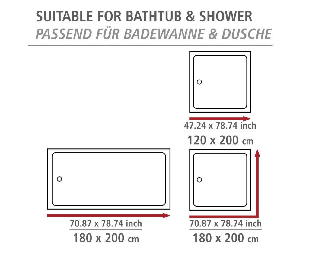 Zasłona prysznicowa Comfort-Flex