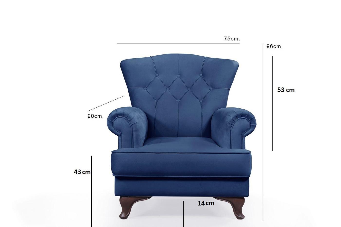 Fotel King Blue